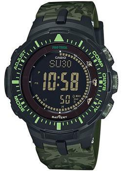 Японские наручные мужские часы Casio PRG-300CM-3E. Коллекция Pro-Trek&Outgear