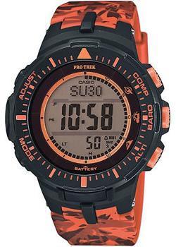 Японские наручные мужские часы Casio PRG-300CM-4E. Коллекция Pro-Trek&Outgear