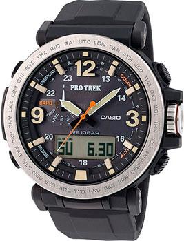 Японские наручные  мужские часы Casio PRG-600-1E. Коллекция Pro-Trek