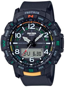 Японские наручные  мужские часы Casio PRT-B50-1ER. Коллекция Pro-Trek