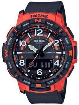 Японские наручные  мужские часы Casio PRT-B50-4ER. Коллекция Pro-Trek