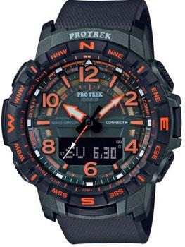 Японские наручные  мужские часы Casio PRT-B50FE-3ER. Коллекция Pro-Trek