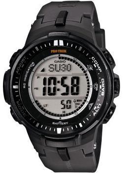 Японские наручные  мужские часы Casio PRW-3000-1E. Коллекци Pro-Trek