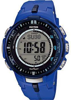 Японские наручные мужские часы Casio PRW-3000-2B. Коллекция Pro-Trek