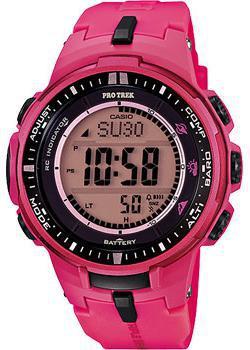 Японские наручные мужские часы Casio PRW-3000-4B. Коллекция Pro-Trek
