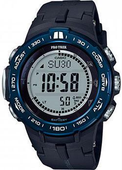 Японские наручные  мужские часы Casio PRW-3100YB-1ER. Коллекция Pro-Trek