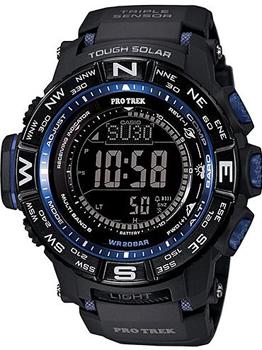Японские наручные мужские часы Casio PRW-3500Y-1E. Коллекция Pro-Trek