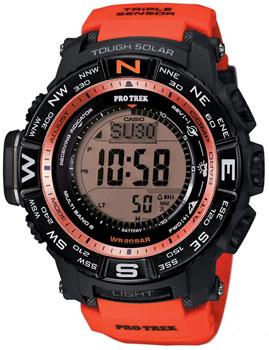 Японские наручные мужские часы Casio PRW-3500Y-4E. Коллекция Pro-Trek