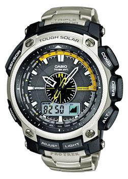 Японские наручные мужские часы Casio PRW-5000T-7E. Коллекция Pro-Trek