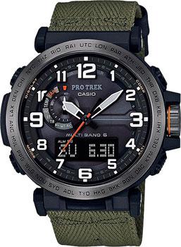 Японские наручные  мужские часы Casio PRW-6600YB-3E. Коллекция Pro-Trek