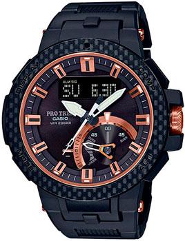 Японские наручные  мужские часы Casio PRW-7000X-1ER. Коллекция Pro-Trek