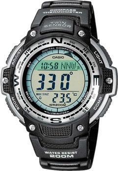 Японские наручные  мужские часы Casio SGW-100-1V. Коллекция Pro-Trek