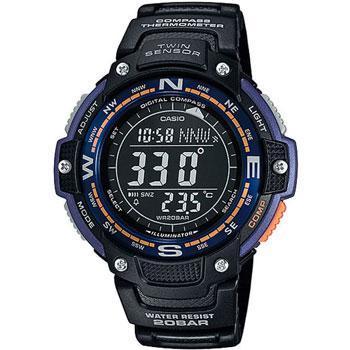 Японские наручные  мужские часы Casio SGW-100-2B. Коллекция Pro-Trek