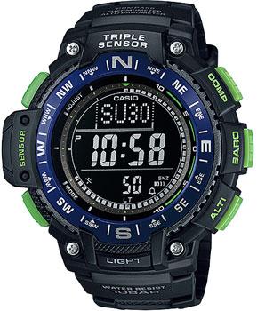 Японские наручные  мужские часы Casio SGW-1000-2B. Коллекция Pro-Trek.
