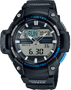 Японские наручные  мужские часы Casio SGW-450H-1A. Коллекция Pro-Trek