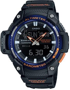 Японские наручные  мужские часы Casio SGW-450H-2B. Коллекция Pro-Trek