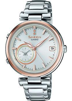 Японские наручные  женские часы Casio SHB-100SG-7A. Коллекция Sheen