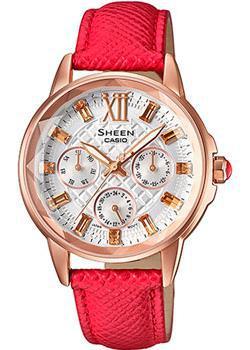 Японские наручные  женские часы Casio SHE-3029PGL-7A. Коллекция Sheen