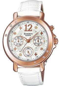 Японские наручные  женские часы Casio SHE-3033GL-7A. Коллекция Sheen