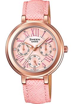 Японские наручные  женские часы Casio SHE-3034GL-4A. Коллекция Sheen