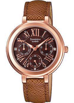 Японские наручные  женские часы Casio SHE-3034GL-5A. Коллекция Sheen