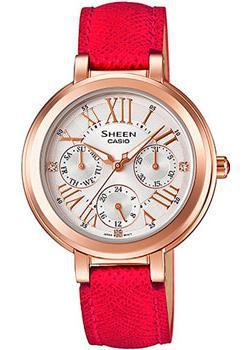 Японские наручные  женские часы Casio SHE-3034GL-7B. Коллекция Sheen