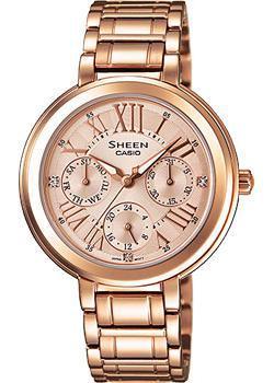 Японские наручные  женские часы Casio SHE-3034PG-9A. Коллекция Sheen
