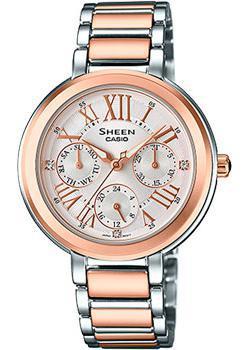 Японские наручные  женские часы Casio SHE-3034SPG-7A. Коллекция Sheen