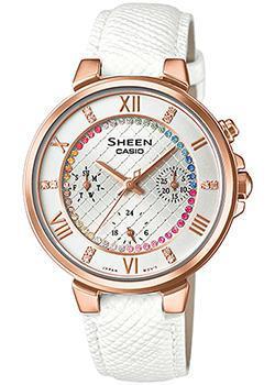 Японские наручные  женские часы Casio SHE-3041PGL-7A. Коллекция Sheen