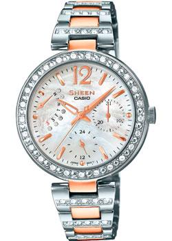 Японские наручные  женские часы Casio SHE-3043SG-7A. Коллекция Sheen
