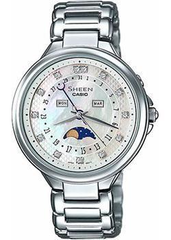 Японские наручные  женские часы Casio SHE-3044D-7A. Коллекция Sheen