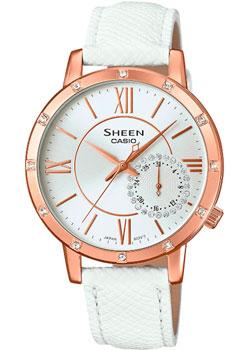 Японские наручные  женские часы Casio SHE-3046GLP-7A. Коллекция Sheen