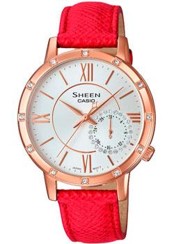 Японские наручные  женские часы Casio SHE-3046GLP-7B. Коллекция Sheen