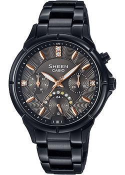 Японские наручные  женские часы Casio SHE-3047B-1A. Коллекция Sheen