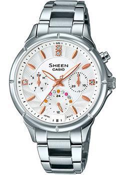 Японские наручные  женские часы Casio SHE-3047D-7A. Коллекция Sheen