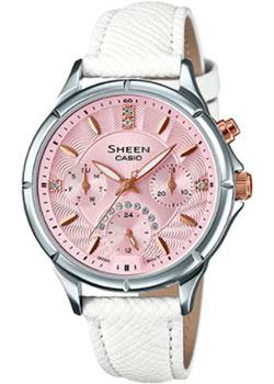 Японские наручные  женские часы Casio SHE-3047L-4B. Коллекция Sheen