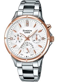 Японские наручные  женские часы Casio SHE-3047SG-7A. Коллекция Sheen