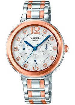 Японские наручные  женские часы Casio SHE-3048BSG-7A. Коллекция Sheen