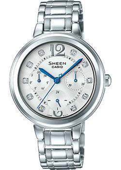 Японские наручные  женские часы Casio SHE-3048D-7A. Коллекция Sheen
