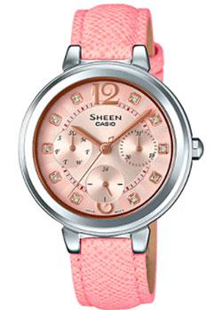 Японские наручные  женские часы Casio SHE-3048L-4A. Коллекция Sheen