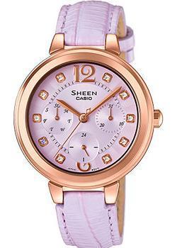 Японские наручные  женские часы Casio SHE-3048PGL-6A. Коллекция Sheen