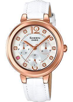 Японские наручные  женские часы Casio SHE-3048PGL-7A. Коллекция Sheen