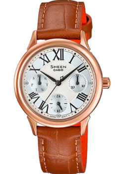 Японские наручные  женские часы Casio SHE-3049PGL-7A. Коллекция Sheen