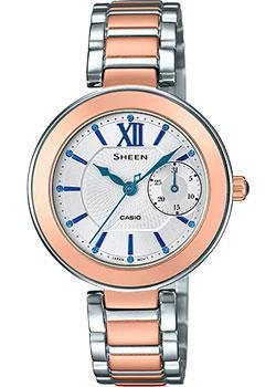 Японские наручные  женские часы Casio SHE-3050SG-7A. Коллекция Sheen