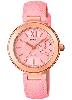 Японские наручные  женские часы Casio SHE-3051PGL-4A. Коллекция Sheen