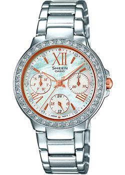 Японские наручные  женские часы Casio SHE-3052D-7A. Коллекция Sheen