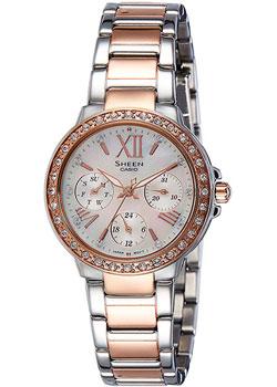 Японские наручные  женские часы Casio SHE-3052SPG-7A. Коллекция Sheen
