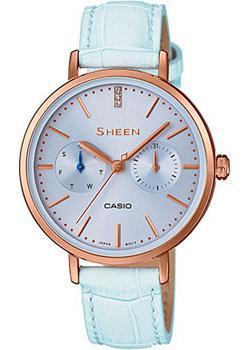 Японские наручные  женские часы Casio SHE-3054PGL-2A. Коллекция Sheen