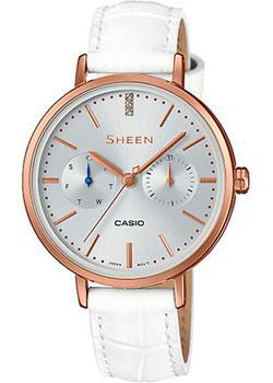 Японские наручные  женские часы Casio SHE-3054PGL-7A. Коллекция Sheen