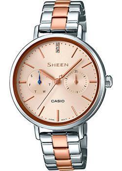 Японские наручные  женские часы Casio SHE-3054SPG-4A. Коллекция Sheen